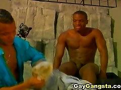Black Gay Gangsta Cock Sucking and Anal Fucking