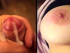 Cumming on big tits of Cameon