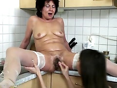 Dirty grannies love big toys and young girl&039;s fist