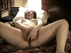 Nympho Horny Fat CHubby Teen Masturbating in her Hotel Room