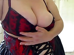 Horny Fat BBW with big tits I met online showing her assets