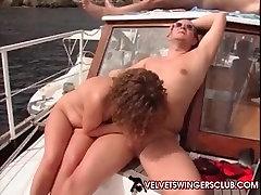 Velvet Swinger club boat trip gangbang and orgy