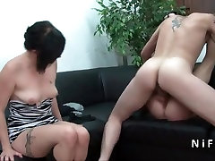 Small titted Mature french slut hard gangbanged in groupsex