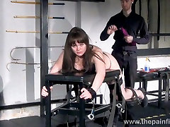 Whipped Louise in amateur spanking to tears and private sub