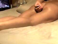 Wife masturbating while watching porn