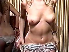 Retro vintage girl striptease