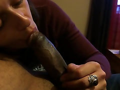 First time black cock sucking