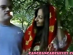 Gangbang Archive with INdian MILF and 6 white guys