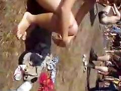 hairy hippie girl nude in public