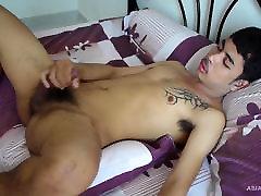 Cute Gay Asian Twink Kai Jacking Off Naked