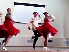 Teens pantyhose upskirt while dancing slomo included