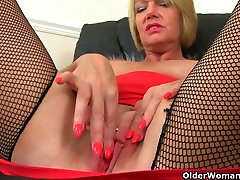 British milfs Lily and Amy love masturbating in pantyhose
