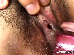 Asian cuttie has a soaking wet pussy the dude toy fucks