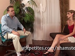 Tiny Little Melanie Masters Rides a Cock