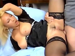 Cute Busty Mature In Stockings Anal