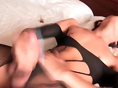 Small Titted Ladyboy Jumping On Cock