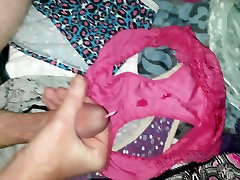 cumming pink panties