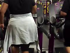 Big Black and Mexican Ass at the Gym!