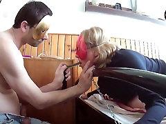 Deepthroating my slave Inga