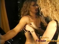Rough mistress makes her slave&039;s tits hurt in a bdsm session
