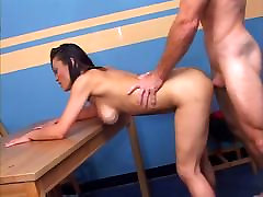 Hot asian girl gets fucked.