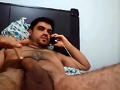 Hairy dude having sex phone
