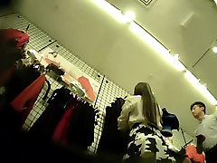 Quickie Upskirt of Asian Wife in Nude Tights.