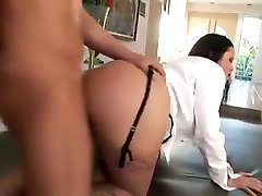Brunette MILF with big tits gets fucked in the ass