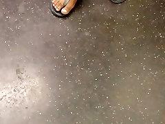 Candid ebony feet nice