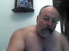 Hairy Naked Dad on Webcam