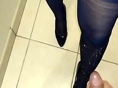 cum on my wife stockings and heels