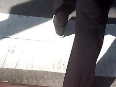fine ass black milf big booty in black dress pants