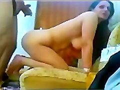 iranian long hair mature fucked to young lover on Couch