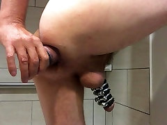 Ass gaping arse fucking anal stretching hole toying CBT
