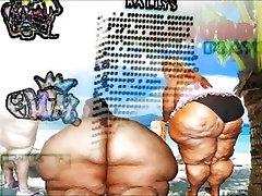 Black BBW with big titties gets fucked!