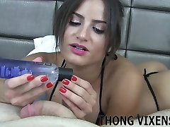 I love playing with big cocks in my tiny little thong JOI