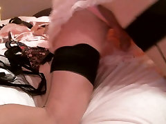 A small self spank in satin panties hihi
