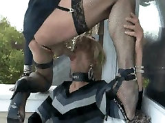 two crossdressers play together