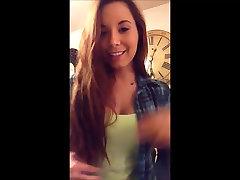 Beautiful teen showing boobs on webcam