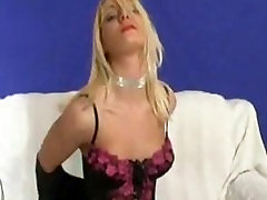 Hot little blonde plays with herself