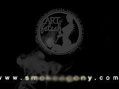 JENNY S. 002 SMOKING FETISH AND ORGASM TRAILER FROM SMOKEAGONY.COM