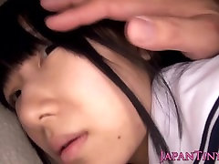 Petite Japanese schoolgirls toy stimulated