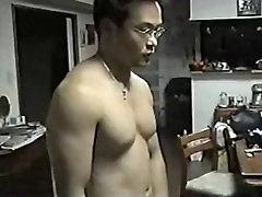 Japanese daddy jerk off