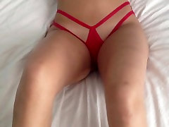 My Strappy Red Panties and Ass
