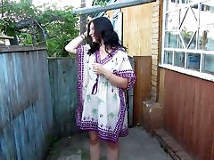 Russian Girl Pissing standing on her panties