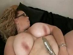 Kortney from 1fuckdate.com - Big fat bbw with big tits playing