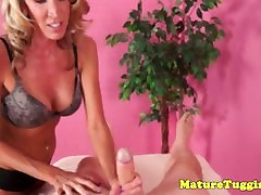 Mature tugging amateur with nice perky tits pov