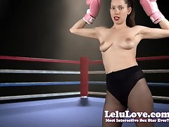 Lelu Love-Topless Boxing Strutting And Flexing
