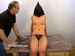 Amateur bdsm of busty Danii Black in private dungeon whipping and fierce
