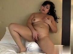Denisse from 1fuckdate.com - Amateur asian bbw masturbates